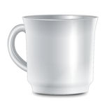 Cup on white background. Vector Royalty Free Stock Photography
