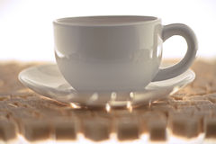 Cup of white coffee. With brown sugar Stock Photo
