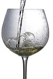 Cup of white wine on a white background Stock Photo