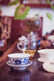 A cup of whole leaf lapsang souchong tea, a rich smoky flavored tea Stock Photography