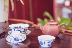 A cup of whole leaf lapsang souchong tea, a rich smoky flavored tea Royalty Free Stock Photography