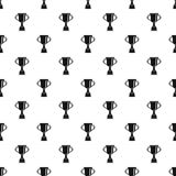 Cup for win pattern vector. Cup for win pattern seamless in simple style vector illustration Stock Photos