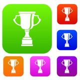 Cup for win set collection. Cup for win set icon in different colors isolated vector illustration. Premium collection Stock Images
