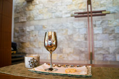 Cup of Wine and Bread Royalty Free Stock Images