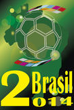 Cup  winner Brazil Soccer 2014 Royalty Free Stock Photo
