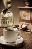 Cup With Coffee And Accessories Royalty Free Stock Photos