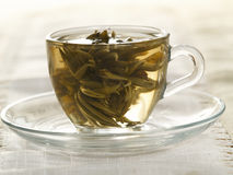 Cup With Green Tea Stock Photography