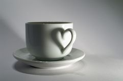 Free Cup With Heart Stock Photography - 8010842