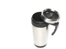 Cup With Heat Protection-thermos Coffee. Royalty Free Stock Images
