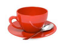 Free Cup With Spoon And Saucer. Royalty Free Stock Image - 29275546