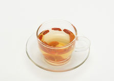 Cup of wolfberry tea Stock Photos