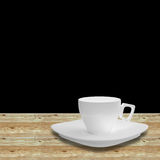 Cup  on wood Stock Photo