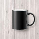 Cup on wooden backdrop Royalty Free Stock Photos