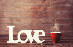 Cup and word Love Stock Images