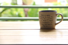 A cup of words Stock Image