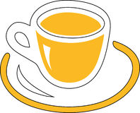 Cup yellow Royalty Free Stock Image