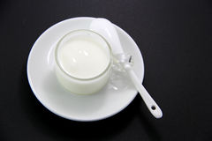 A cup of Yogurt Stock Image