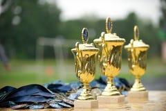 Cup zu den Siegern Stockfoto