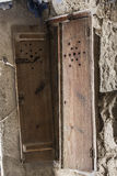Cupboard abandoned. In a cave house. This furniture is made of wood doors that cover the hole dug in the rock . The cave houses are typical houses of northern Stock Images