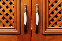 Cupboard door royalty free stock photos