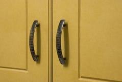 Cupboard Doors. Wooden Kitchen Cupboard Doors and handles Stock Image