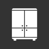 Cupboard icon on black background. Royalty Free Stock Photos