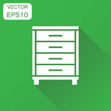 Cupboard icon. Business concept cabinet pictogram. Vector illust Stock Photos