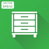 Cupboard icon. Business concept cabinet pictogram. Vector illust Royalty Free Stock Photography