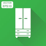 Cupboard icon. Business concept cabinet pictogram. Vector illust Stock Images