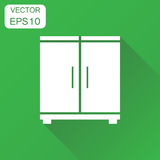 Cupboard icon. Business concept cabinet pictogram. Vector illust Royalty Free Stock Photos