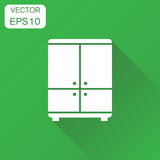 Cupboard icon. Business concept cabinet pictogram. Vector illust Stock Image