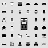 Cupboard icon. Furniture icons universal set for web and mobile. On colored background vector illustration