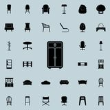 Cupboard icon. Furniture icons universal set for web and mobile. On colored background royalty free illustration