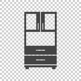 Cupboard icon on isolated background. Modern flat pictogram for business, marketing, internet. Simple flat vector symbol for web site design Royalty Free Stock Images