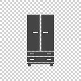 Cupboard icon on isolated background. Royalty Free Stock Photo