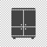 Cupboard icon on isolated background. Modern flat pictogram for business, marketing, internet. Simple flat vector symbol for web site design Royalty Free Stock Photo