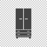 Cupboard icon on isolated background. Modern flat pictogram for. Business, marketing, internet. Simple flat vector symbol for web site design Royalty Free Stock Photography