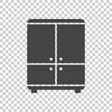 Cupboard icon on isolated background. Modern flat pictogram for. Business, marketing, internet. Simple flat vector symbol for web site design Stock Images