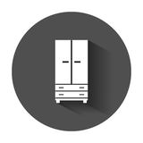Cupboard icon. Modern flat pictogram for business, marketing, internet. Simple flat vector symbol with long shadow Royalty Free Stock Images