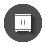 Cupboard icon. Modern flat pictogram for business, marketing, internet. Simple flat vector symbol with long shadow Stock Photo