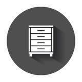Cupboard icon. Royalty Free Stock Photos