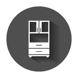 Cupboard icon. Modern flat pictogram for business, marketing, internet. Simple flat vector symbol with long shadow Stock Image