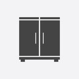 Cupboard icon on white background. Modern flat pictogram for bus. Iness, marketing, internet. Simple flat vector symbol for web site design Royalty Free Stock Image