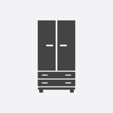 Cupboard icon on white background. Modern flat pictogram for bus Stock Photo