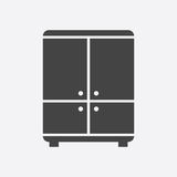 Cupboard icon on white background. Modern flat pictogram for bus Royalty Free Stock Photo