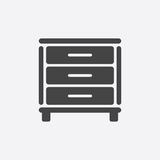 Cupboard icon on white background. Modern flat pictogram for bus Stock Photography