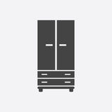 Cupboard icon on white background. Royalty Free Stock Photography