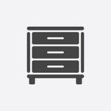 Cupboard icon on white background. Royalty Free Stock Photos