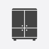 Cupboard icon on white background. Stock Image