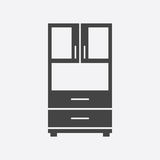 Cupboard icon on white background Stock Photography